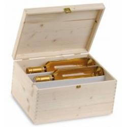 Cassetta Legno Massello di Pino 3+3 Bottiglie