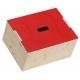 Forziere in Legno Massello con Coperchio Rosso