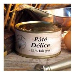 Paté Delice (25% di Foie Gras) lattina