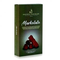 Markolato Cialda con Ripieno di Crema alla Nocciola e Ricoperta di Cacao