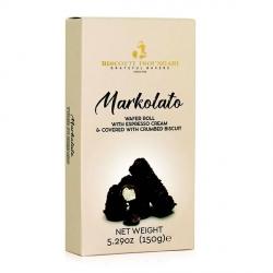 Markolato Cialda con Ripieno di Crema al Caffè e Ricoperta di Cioccolato